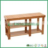 strong bamboo shoe storage rack bench seat chair