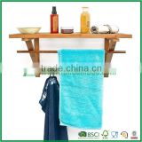 Fuboo bamboo wall mounted bathroom towel rack                                                                                                         Supplier's Choice