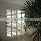 Wholesale hollow shutter adjustable louver wood blinds high quality Hotel Etc window shutter