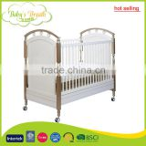 WBC-03B hot selling solid wood unfinished wooden baby crib, adult baby crib                                                                                         Most Popular