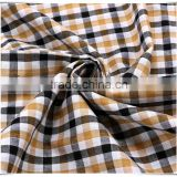 Mens shirting fabric, 100 cotton woven yarn dyed fabric, in stock