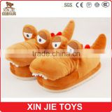 EN71 plush indoor slippers good quality plush slippers factory fashion plush crocodile slippers