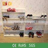 2016 the mostly popular folding shoes rack designed with flower pattern rack for boot rack