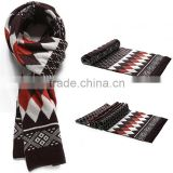 Autumn and winter 5color choice rhombic pattern fashion 3color stitching men scarf men accessories