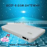 8 GSM GATEWAY!voip gateway with H.323 and SIP,goip for call terminal support change IEMI/telecom equipment