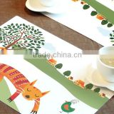 High quality customized kids home vinyl placemats wholesale