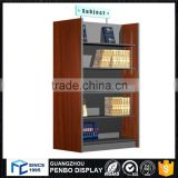 Modern style MDF wood bookcase and specification book display rack for bookstore