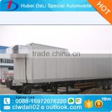Refrigerated tank truck 40 tons refrigerated insulated van box truck refrigerated freezer trailer sale
