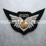 Us navy flight jacket uniform embroidery wire bullion combat aircrew wing