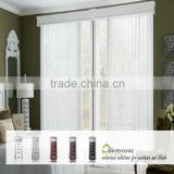 Bintronic Taiwan White Aluminum Track Screw Rod Motorized Vertical Blinds With Vertical Pulley