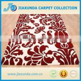 China supply red flora white base hot sales hand tufted bedroom decor rug for living room