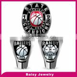 china factory cheap custom gold plated 316l stainless steel fantasy football championship rings