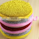 kitchen cleaning set of scouring pad and stainless steel scourer ball sponge scourer set