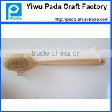 Natural Dry Body Brush & Brush for Dry Brushing with Long Detachable Handle and Boar Bristles - Exfoliate Skin