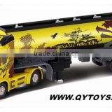 2014 Top seller !!! Cool graffiti design Kid toy 1:32 6 CH rc oil truck with music and light
