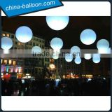 Party decoration advertising cheap Led lighting inflatable hanging balloon/large decoration self infla lighting balloon for sale