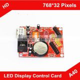 HD-A40 Single/Dual Color LED Display Control Card / U-Disk LED Controller Alibaba in Russian