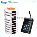 waterproof food court restaurant wireless table waiter buzzer service vibrating queuing calling system coaster pager with CE