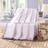 Luxury reactive printed branded print quilt ,hand made super soft natural silk quilt for hotel wholesale