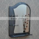 2013 hottest sales double shelf 2 frameless wall mounted mirrors craftwork artistic mirrors