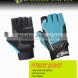 HEAVY DUTY LEATHER FITNESS GLOVES, LEATHER FITNESS GLOVES, HIGH QUALITY LEATHER FITNESS GLOVES WITH PADDING WITH LONG STRAPS