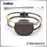 25/30MM Round Blank Photo Openable Cuff Bracelet Blank Bezell