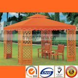 HL 6902 Outdoor Corrosion Prevention Walnut Wood Gazebo