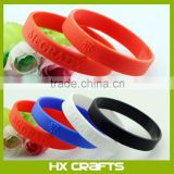 Advertising popular cheap custom rubber bracelet, new disign fashion style silicon bracelet