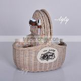 hand-weaving wicker oval picnic baskets