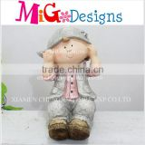 New Design Artificial Factory Direct Magnesium Boy and Girl Figurines