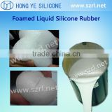 Platinum cured foaming silicone rubber for seat cushioning