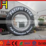 2016 Customized advertising inflatable tire, inflatable tire model for sale