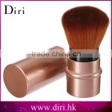 High Quality Retractable Brush Bling Metal Tube Retractable Makeup Powder Brush