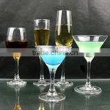 wine glass,champagne glass,martine glass,cocktail glass,old fashion glass made in zibo city shandong china