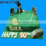50 years old Birthday golf course resin gift birthday fake food model
