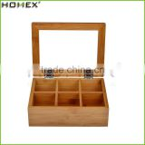 Natrual Finish Bamboo Packing Tea Box Wholesale/Homex_Factory