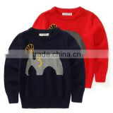 Sweater Kids Knitted Baby Cartoon Sweater Elephant Pattern Child Casual Top