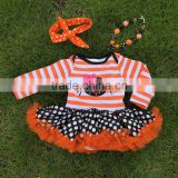 NEW ARRIVAL newborn girl clothes newborn Halloween tutu romper kid tutu romper newborn girl clothes with necklace and headband