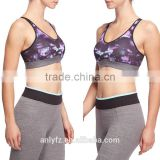 China factoy wholesale customized design sublimation print breathable high impact sports bra