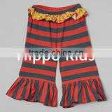Boutique baby icing ruffle pants stripe bella pants wholesale children clothing usa ruffle pants