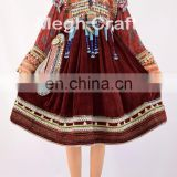 Traditional Balochi Coins With Tassels Dress - Banjara Kuchi Tribal Ethnic Clothes-Gypsy Afghani Handmade Balochi Tassel dress