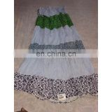 Women's Designer Handmade Cotton Printed White Skirt girls wear long Dress party Wear