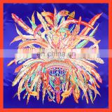 Manual 90*90cm square rolled edges twill silk scarf