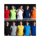 Wholesale plain polo t-shirt with collar nice quality polyester t-shirt