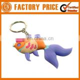 Hot Sale Keychain Private Lable Brand Shape Soft PVC Rubber Keychain