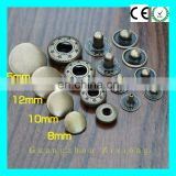 High Quality Antique Nickel Plating Garment Spring Type Press Snap Buttons Brass Spring Snap Button