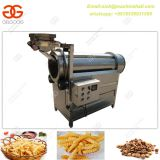 Single-drum French Fries Flavoring Machine|Potato Fries Seasoning Machine|Snack Food Flavoring Machine