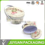 Custom metal tin food storage container with handle packing danish butter cookies