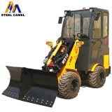 V-snow blade wheel loader for snow removal