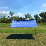 Polyester Blue Tarp Color 3X3M Silver Coated  Sun Shade Ultralight Backpacking Rain Tarps For Camping